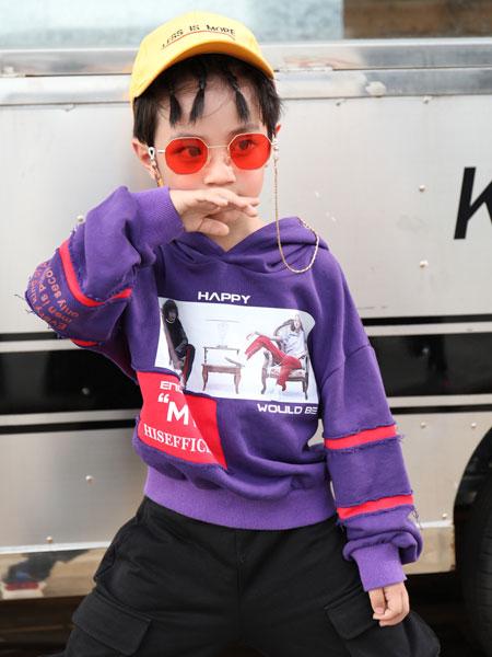 拉斐贝贝童装品牌2019秋季金丝绒套装中大童两件套