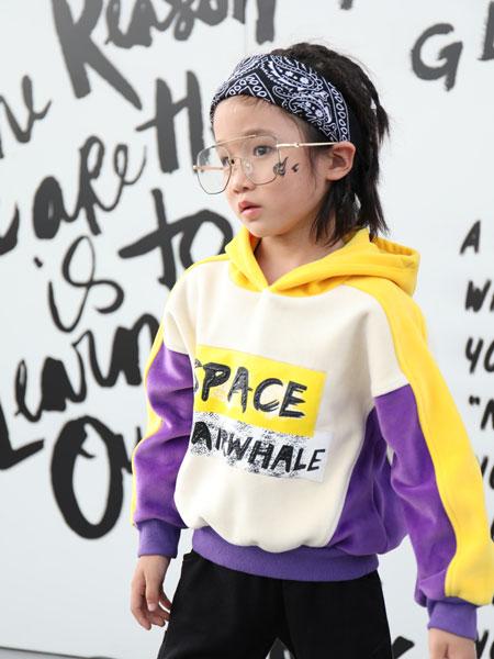 拉斐贝贝童装品牌2019秋季韩版新款拼色上衣 洋气卫衣儿童潮