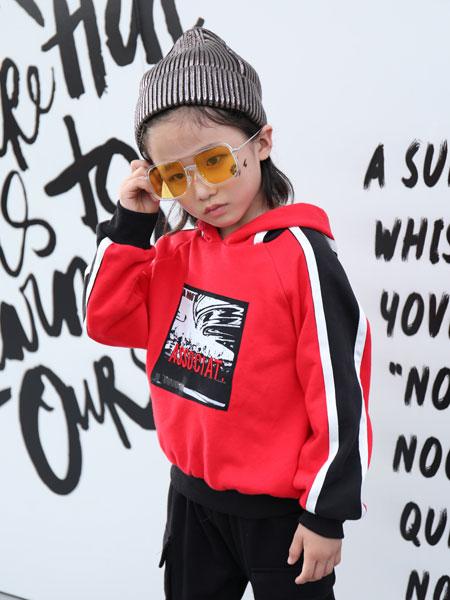 拉斐贝贝童装品牌2019秋季宽松套头衫中大童洋气潮衣