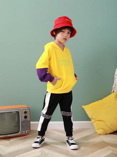 卡比优童装品牌2019秋季新款中大童洋气运动两件套潮