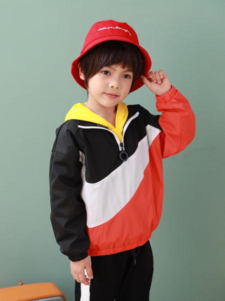 卡比优童装品牌2019秋季男童嘻哈韩版套装