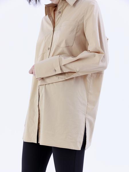 奕色女装品牌2019秋季新款时尚衬衣款韩版宽松长袖设计感小众洋气衬衫