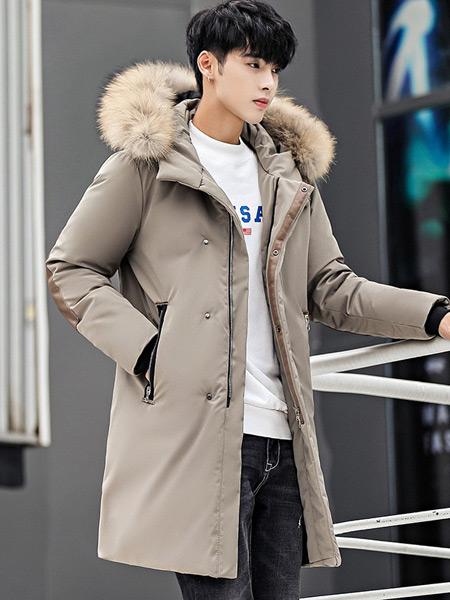 耐彪NAIBIAO男装品牌2019秋冬新款保暖加厚韩版潮流帅气大毛领外套