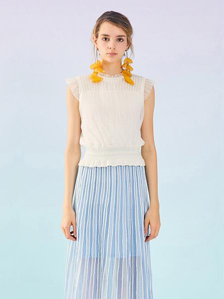 MissLace女装品牌2019秋季新款优雅小立领宽松显瘦无袖蕾丝上衣背心