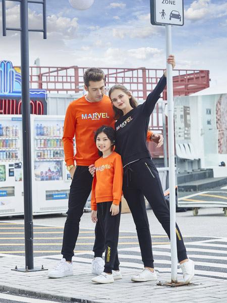 龙子印亲子情侣品牌2019秋季新款韩版大码显瘦长袖休闲卫衣