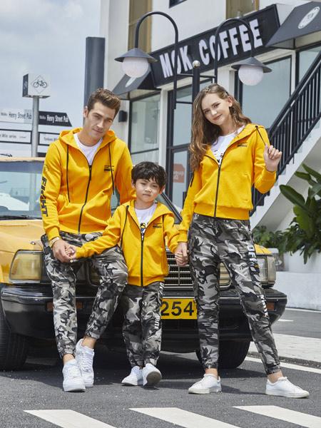 龙子印亲子情侣品牌2019秋季新款韩版潮流加绒加厚休闲运动套装