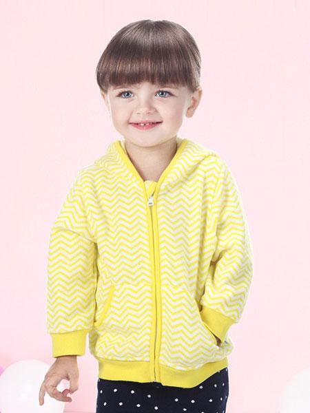 贝贝怡童装品牌2019春季休闲长袖开衫上衣