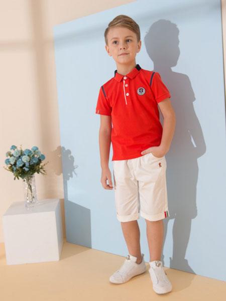 诺贝达童装品牌2019春夏英伦学院风儿童运动服套装