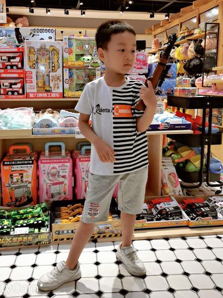 诺贝达童装品牌2019春夏短袖t恤圆领纯棉体恤五分袖白色打底衫潮流七分