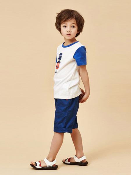 红黄蓝童装品牌2019春夏卡通纯棉T恤儿童休闲短袖上衣