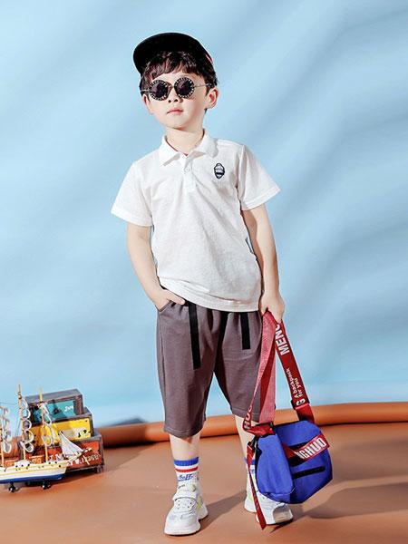 红黄蓝童装品牌2019春夏男童短袖T恤儿童薄t男孩翻领短袖