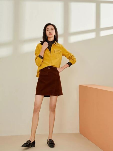 领秀女装品牌2019秋季新款个性潮假两件长袖衬衫