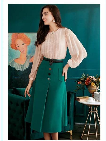 欧点女装品牌2019秋季新款韩版修身显瘦中长款时尚套装