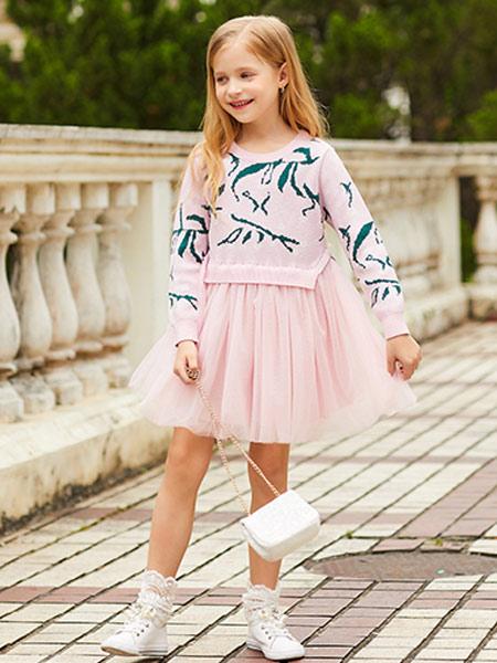 卡儿菲特河南童装品牌2019秋季新款时尚洋气时髦两件套装