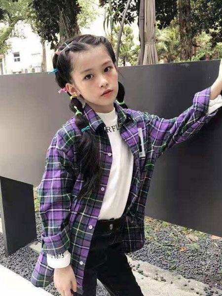 说与童装品牌2019秋冬韩版洋气儿童套装女童两件套