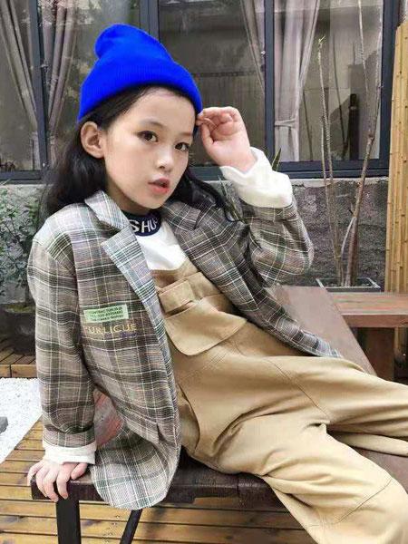 说与童装品牌2019秋冬韩版洋气儿童格子衬衫