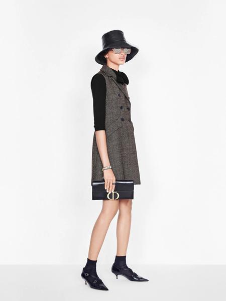 Dior迪奥女装品牌2019秋季新款百搭韩版宽松时尚中长款马甲背心