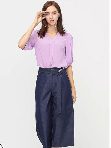 拍普儿女装品牌2019春夏新款简约V领气质衬衫上衣