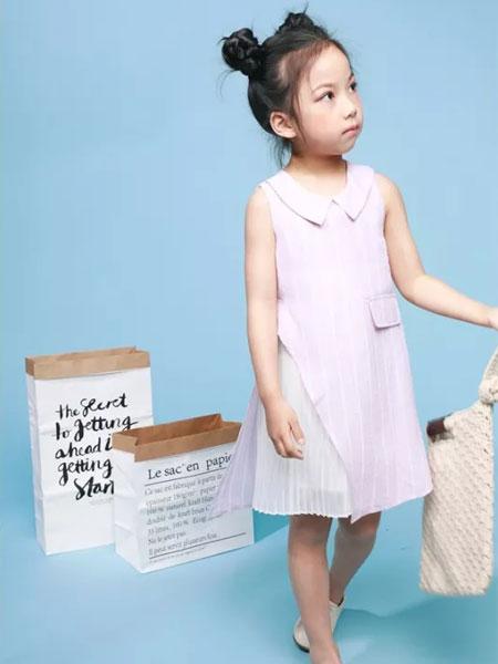 皇室童缘童装品牌2019春夏新款韩版儿童背心洋气公主裙