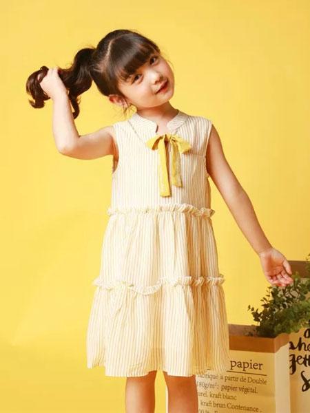 皇室童缘童装品牌2019春夏韩版中大童背心裙无袖公主裙雪纺裙