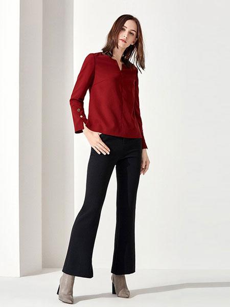 恩灵女装品牌2019春夏新款显瘦修饰腿型微喇九分裤