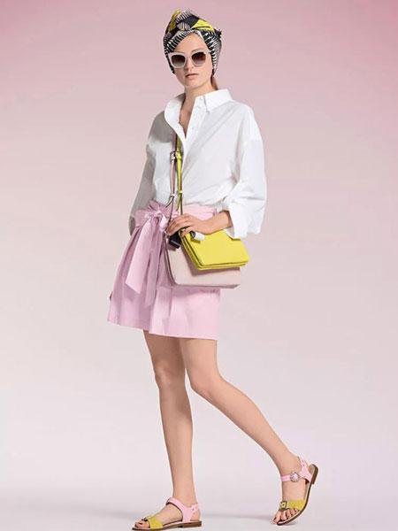 玛可凯恩 marc cain女装品牌2019春夏新款韩版宽松休闲百搭衬衫