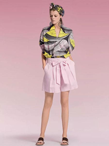 玛可凯恩 marc cain女装品牌2019春夏新款时尚宽松衬衫上衣