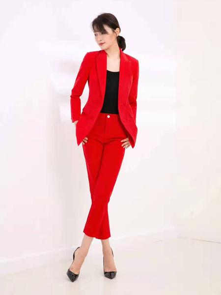 会尼女装品牌2019秋季新款修身职业装一粒扣气质上衣加九分裤潮显瘦西装套装
