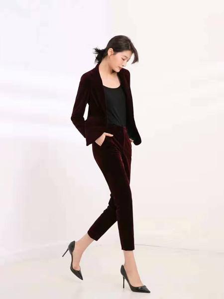 会尼女装品牌2019秋季新款修身显瘦气质西装外套套装