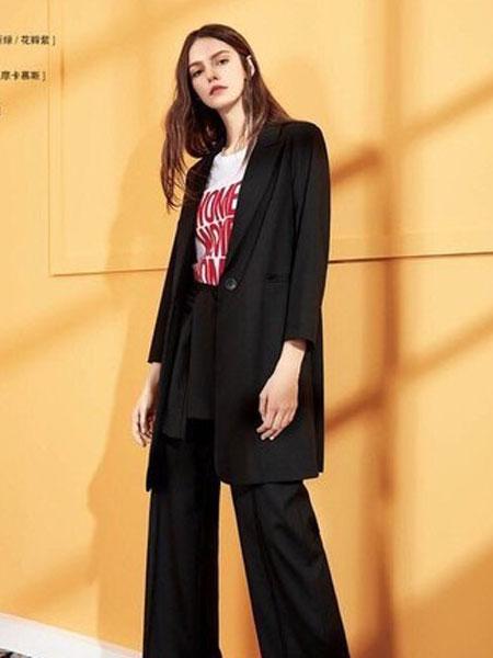 蒂赛尔娜女装品牌2019春夏新款时尚西装外套休闲一粒扣小西服