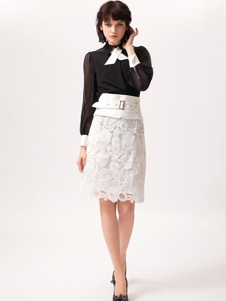 姬芬女装品牌2019春夏新款复古名媛衬衫气质时尚小香风衬衣