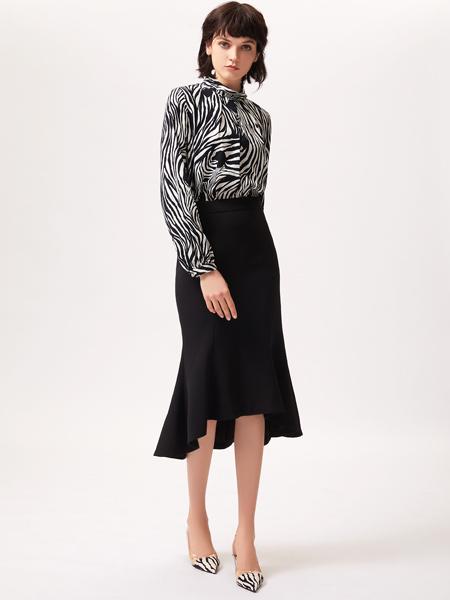 姬芬女装品牌2019春夏新款韩版休闲气质百搭雪纺衬衫