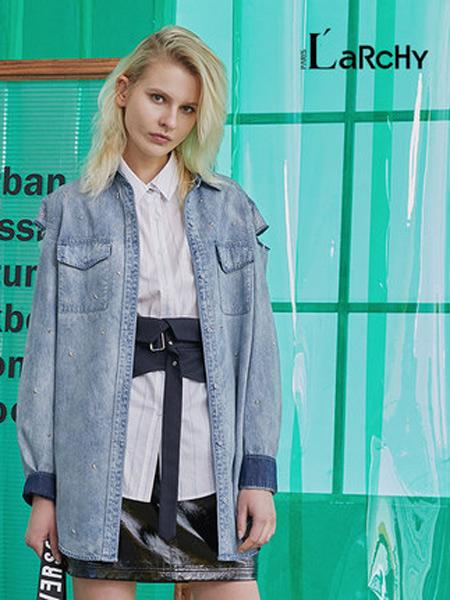 来尔佳昵女装品牌2019秋季新款中长款宽松显瘦休闲时尚牛仔外套