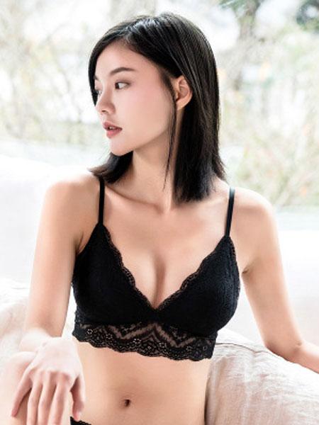 桑之恋内衣品牌2019春夏法式蕾丝三角杯真丝无钢圈文胸