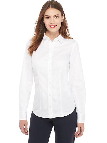 EXPRESS女装品牌2019春夏新款气质简约百搭显瘦白衬衫