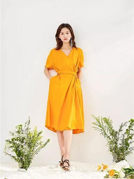 Steve&Vivian女装品牌2019春夏新款修身显瘦款A字气质中长裙