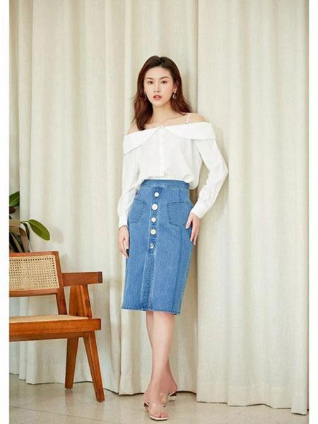 Steve&Vivian女装品牌2019春夏新款时尚包臀牛仔半身裙
