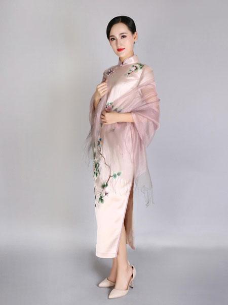 凤禧女装品牌2019春夏新款中国风复古中长款旗袍裙