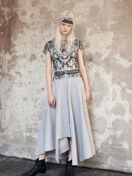 Gary Graham加里·格雷厄姆女装品牌2019春夏新款时尚休闲显瘦连衣裙