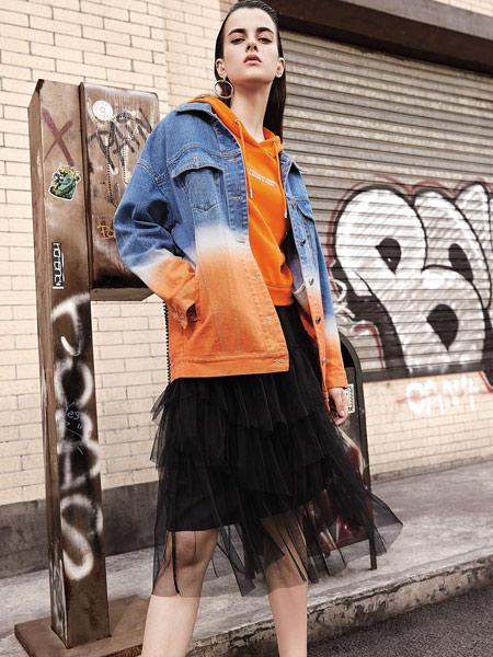卡尼欧女装品牌2019秋季新款韩版宽松个性时尚百搭牛仔外套