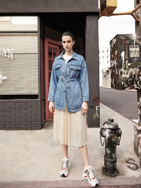卡尼欧女装品牌2019秋季新款宽松薄款韩版显瘦牛仔外套