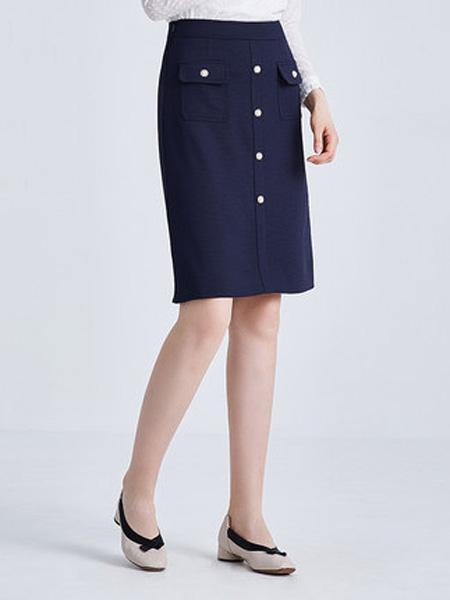 经典故事女装品牌2019秋季新款OL职业半身裙时尚修身通勤短裙气质中裙