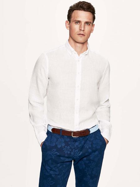 Hackett London男装品牌2019春夏时尚休闲宽松衬衫上衣