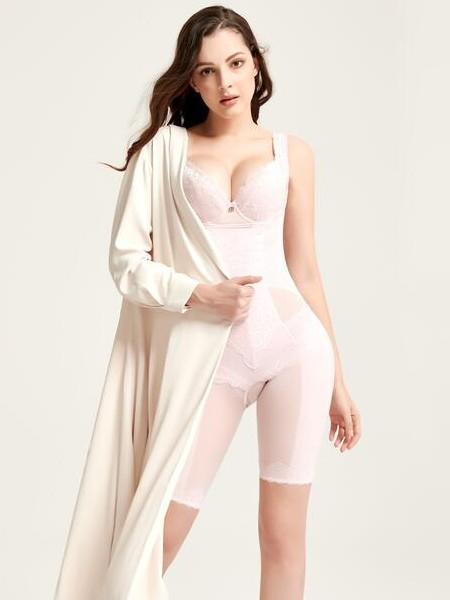 蓓丽莲娜内衣品牌2019春夏束身衣蕾丝拼接情趣内衣收腹聚拢塑身衣