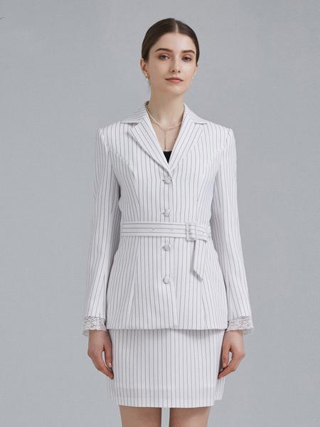 衣邦人休闲品牌2019春夏新款时尚气质休闲商务西装知性简约套装