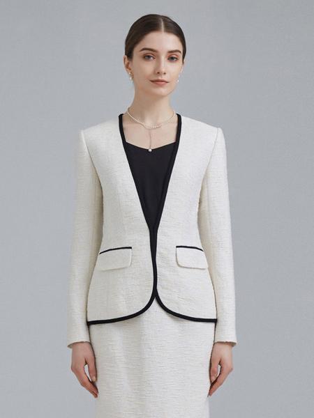 衣邦人休闲品牌2019春夏新款时尚两件套修身套装