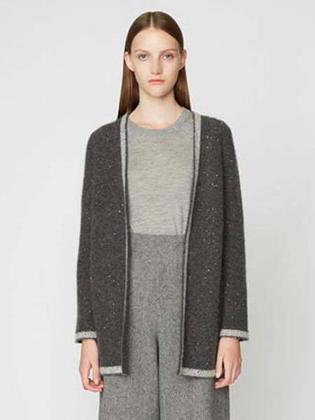 宝姿1961女装品牌2019秋季新款休闲长袖中长针织开衫