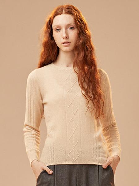 ZENE女装品牌2019秋季新款圆领套头打底衫修身针织衫