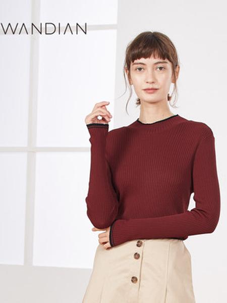 婉甸女装品牌2019秋季新款通勤明线装饰套头衫