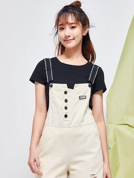古米娜女装品牌2019春夏新款气质韩版背带连衣裤